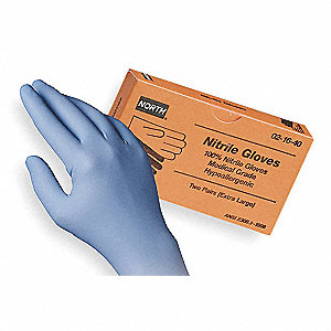 Disp. Gloves,Nitrile,One Size,Blue,PK2