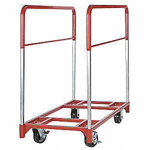"48""L x 24""W x 43-1/2""H Red Table Mover, 1600 lb. Load Capacity"