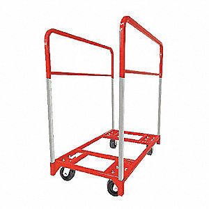 "48""L x 24""W x 51-3/4""H Red Table Mover, 1600 lb. Load Capacity"