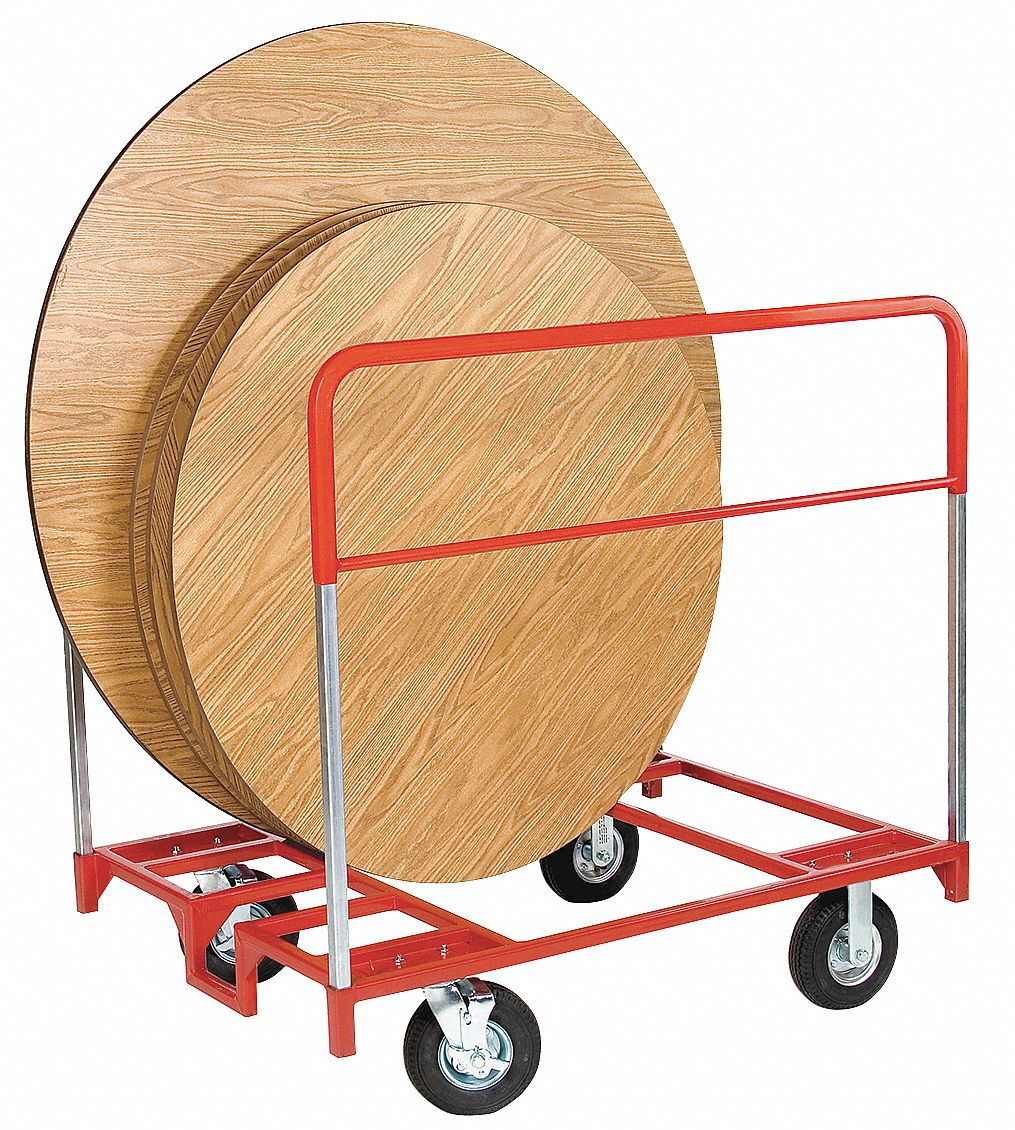 Cart with Vertical Divider Rail for Round & Rectangular Tables,  1,000 lb Load Capacity