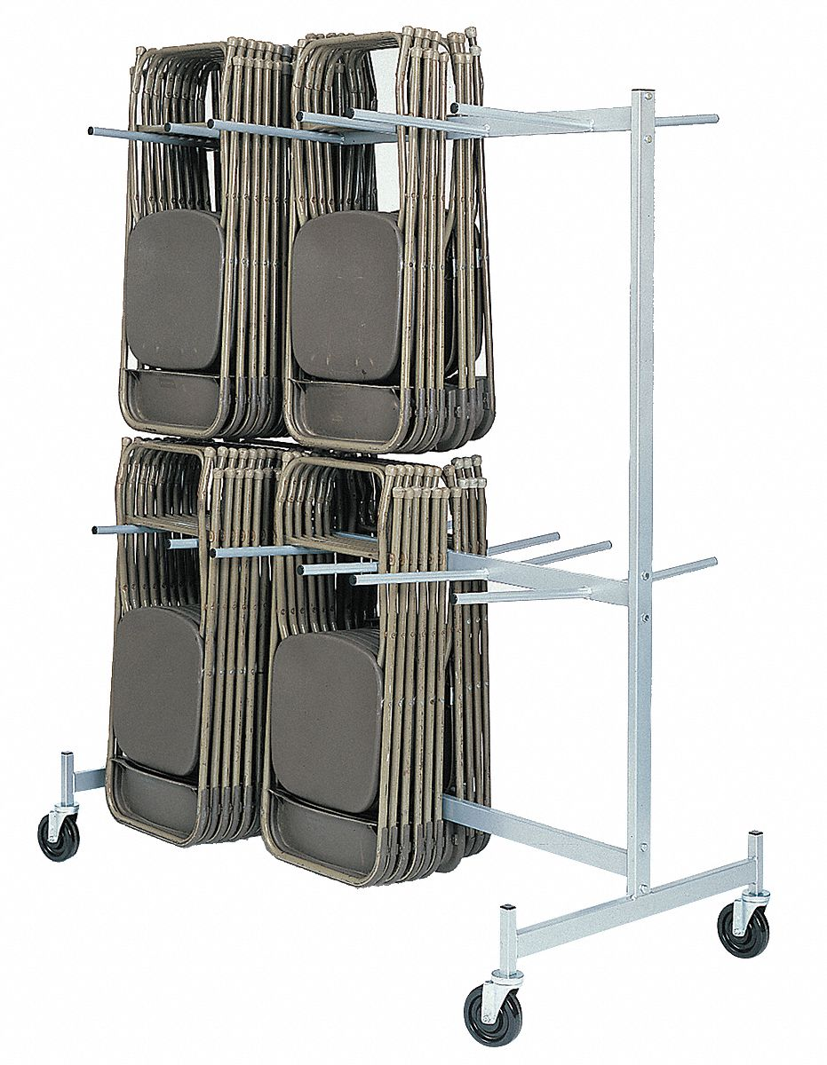 Hanging Rack for Folding Chairs,  800 lb Load Capacity,  For Max. Number of Chairs 60