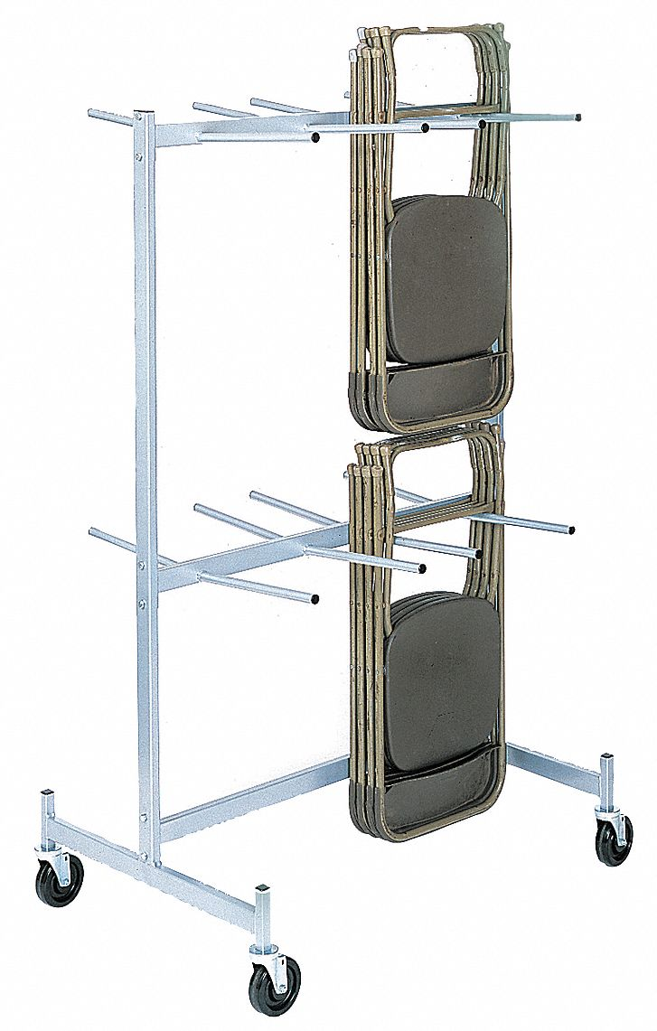 Hanging Rack for Folding Chairs,  800 lb Load Capacity,  For Max. Number of Chairs 48