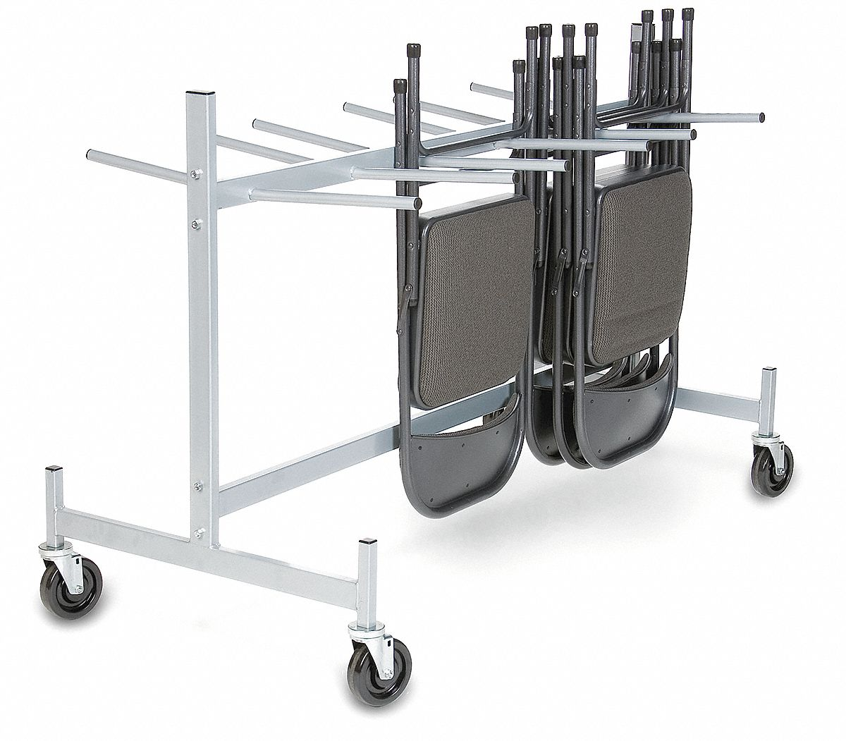Hanging Rack for Folding Chairs,  400 lb Load Capacity,  For Max. Number of Chairs 36