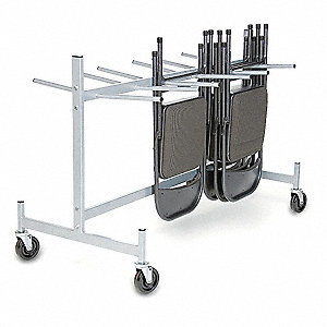 Folding Chair & Table Strg Cart,400 lb.