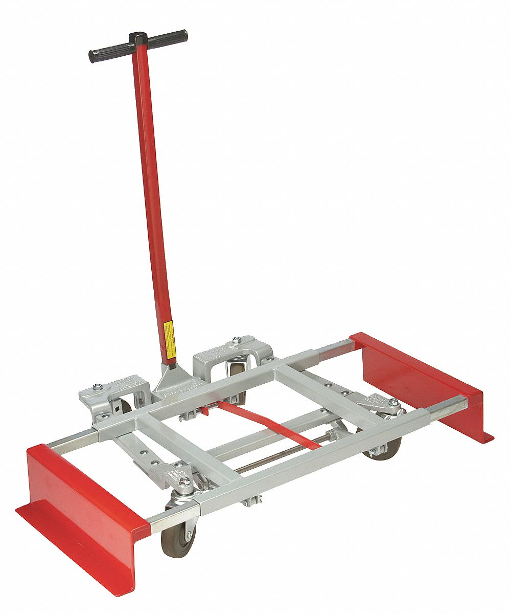 Adjustable-Width Lift-and-Roll Desk & Furniture Dolly,  600 lb Load Capacity