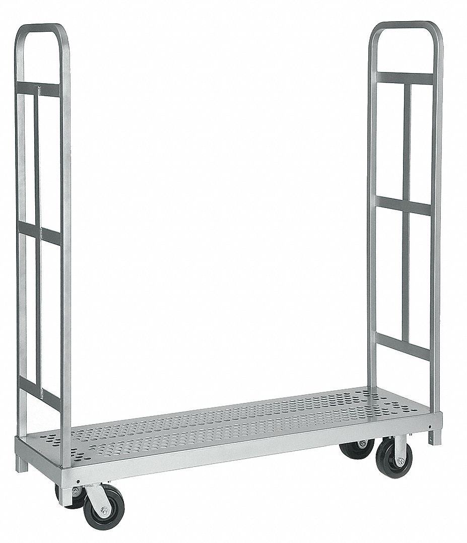 Narrow Steel-Deck Platform Truck,  1,500 lb Load Capacity