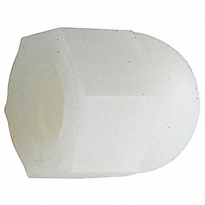 Cap Nut,1/4-28,Nylon,Natural,PK25