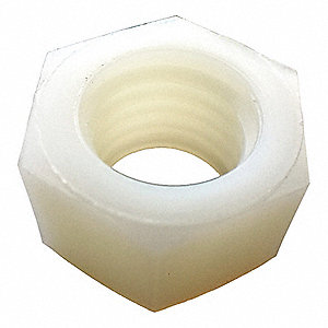 Hex Nut,M6-1.00,Nylon,Plain,PK25