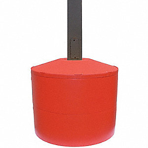 "22-1/4""H Light Pole Base Cover, Red; For Post Shape: Square, For Post Size: 6"" dia."