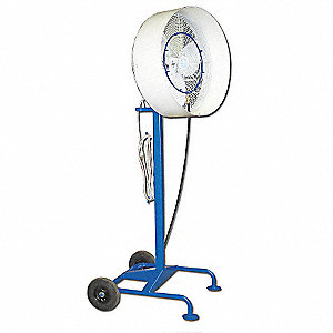 "30"" Industrial Pedestal-Mounted Oscillating Misting Air Circulator"