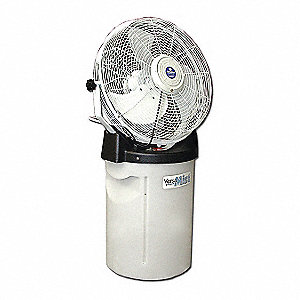 "18"" Commercial Pedestal-Mounted Misting Air Circulator"