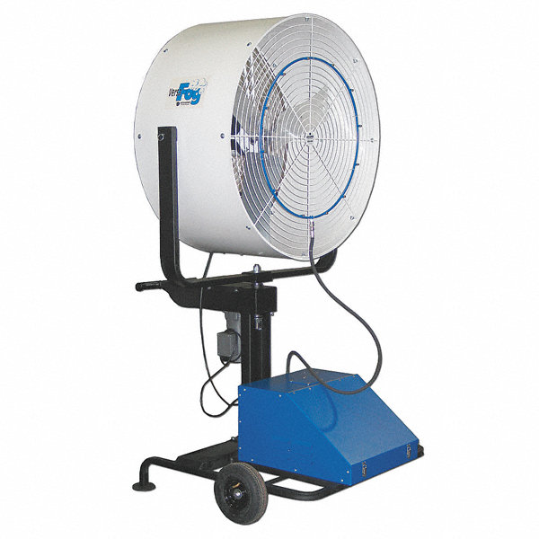 Commercial Air Circulator : Versafog quot commercial pedestal mounted misting air