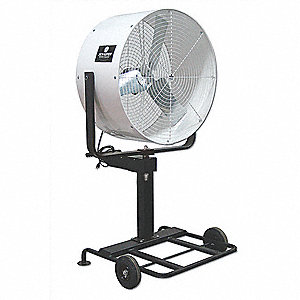 "36"" Industrial Pedestal-Mounted Oscillating Misting Air Circulator"