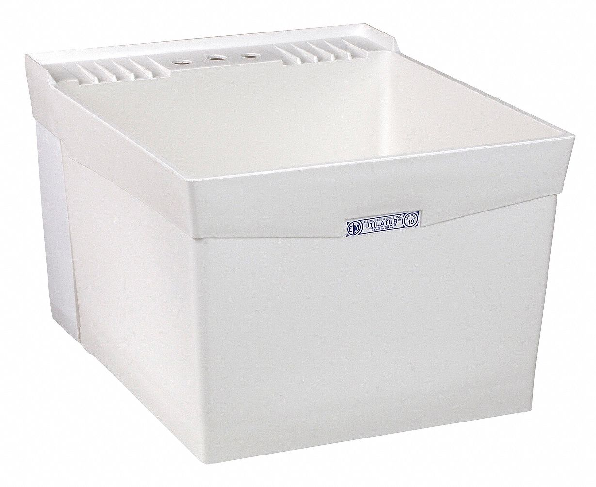 E. L. Mustee,  Utilatub Series,  24 in x 20 in,  Polypropylene,  Laundry Tub