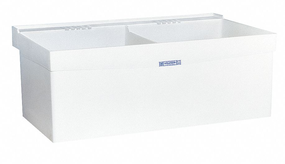 E. L. Mustee,  Utilatwin Series,  24 in x 40 in,  Polypropylene,  Laundry Tub