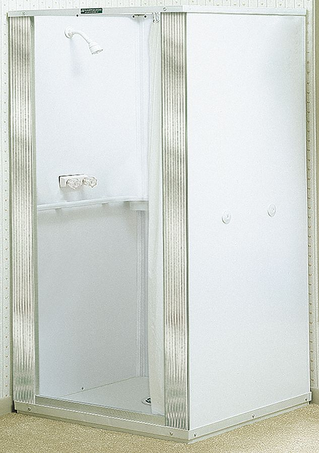E.L. Mustee,  Durastall Series,  Shower Stall,  32 5/8 in x 32 5/8 in Base Size