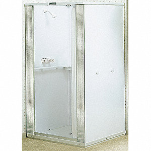"32 in"" x 32 in"" x 74 3/4 in"" Free Standing Thermoplastic Shower Stall"