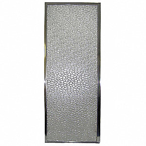 "24"" x 1"" x 64"" Polished Chrome Finish Styrene Shower Door"