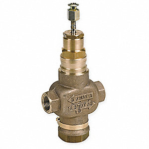 2-Way, Direct Acting (F)NPT 1/2 Threaded Globe Valve,  VAC, 4.7Cv,