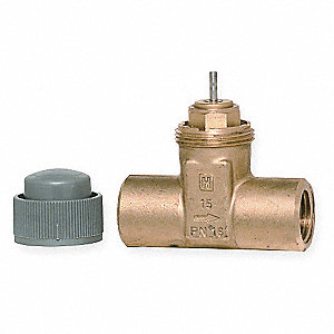 2-Way, Cartridge (F)NPT 1/2 Threaded Globe Valve,  VAC, 1.2Cv,