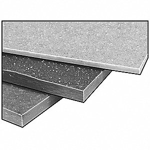 FiberPlate,Grit,Poly,Gry,1/8 x 24 x24 In