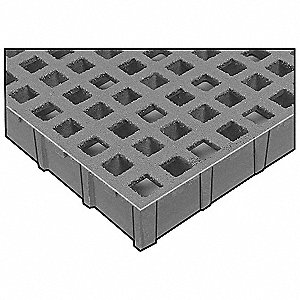 Light Gray Micro-Mesh Grating, Corvex Resin Type, 12 ft. Span, Meniscus Surface