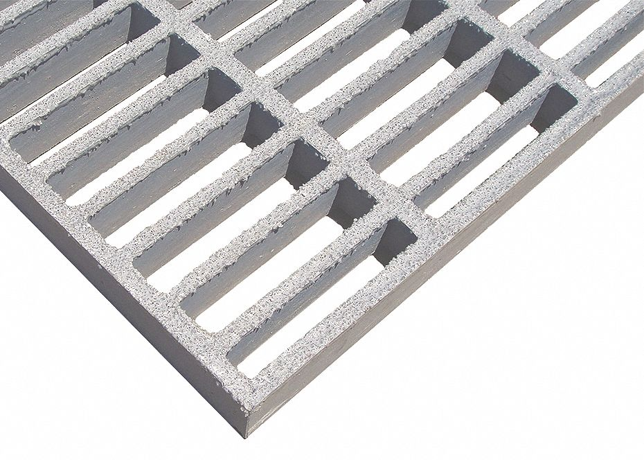 874070 Light Gray RIGIDEX Moltruded Grating,Span 4 ft.