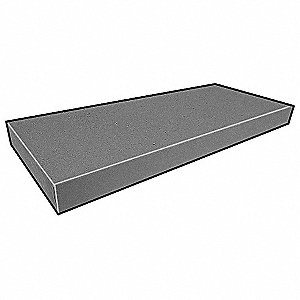 Stair Tread,Coverd,2 1/8x12 1/4 In,12 Ft