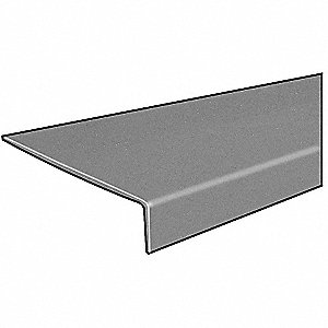 Light Gray, Premium Polyester Stair Tread Cover, Installation Method: Fasteners, Round Edge Type, 14