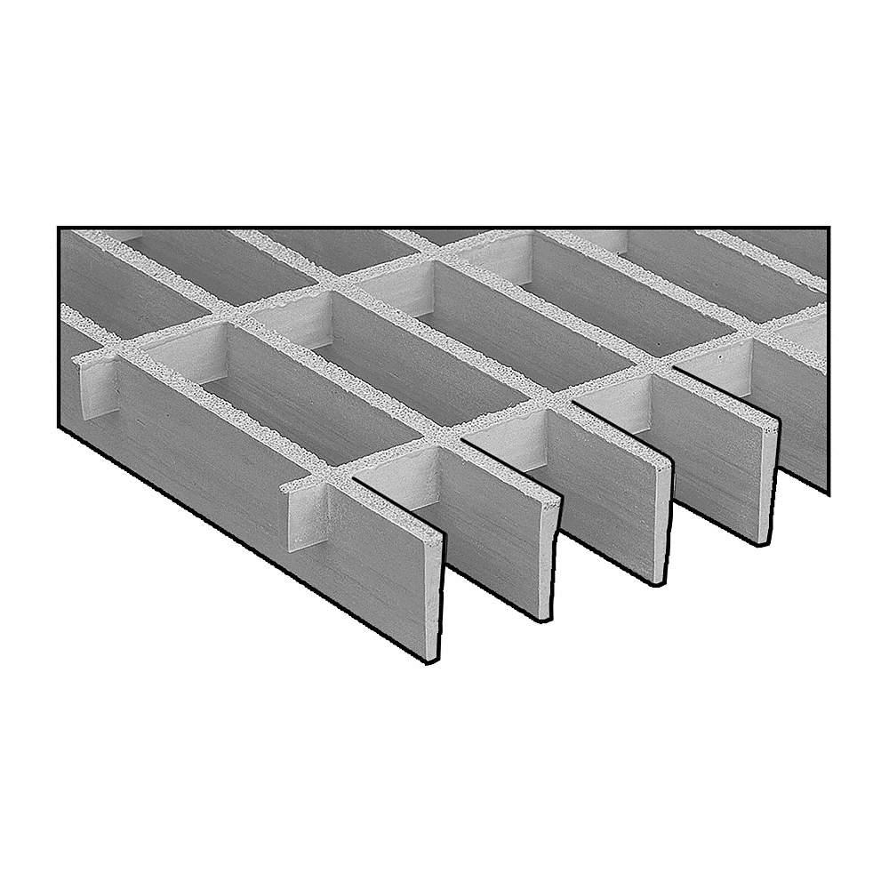 RIGIDEX Moltruded Grating,Span 4 ft. Light Gray 874070