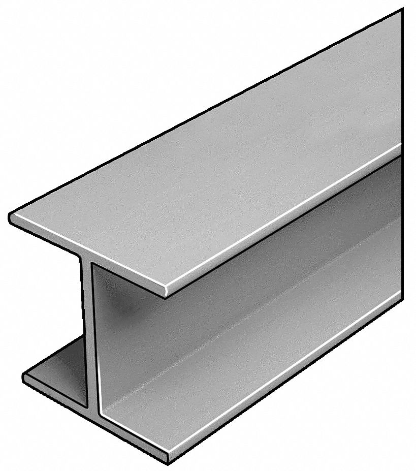 W-Beam, ISOFR, Gray, 4x4 In, 1/4 In Th, 20 Ft