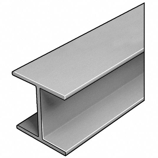 W-Beam, ISOFR, Gray, 4x4 In, 1/4 In Th, 10 Ft