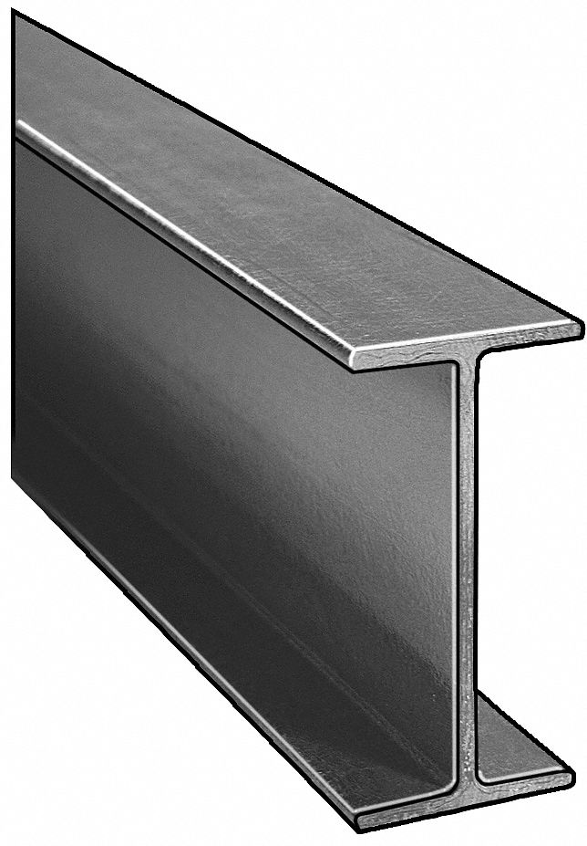 I-Beam, ISOFR, Gray, 6x3 In, 1/4 In Th, 10 Ft