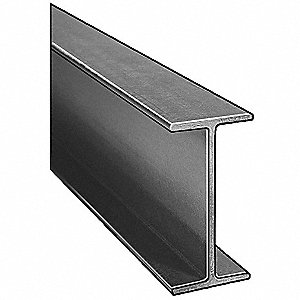 I-Beam,ISOFR,Gray,4x2 In,1/4 In Th,10 Ft