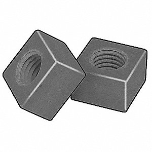 Vinyl Ester Fire-Retardant Resin (VEFR) Square Nut with 1/2-13 Thread Size and Smooth, Light Gray Fi