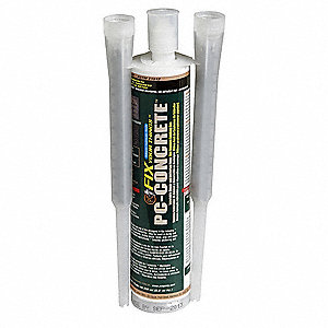 Gray Concrete Anchoring and Crack Repair, 8.6 oz. Size, Coverage: 2