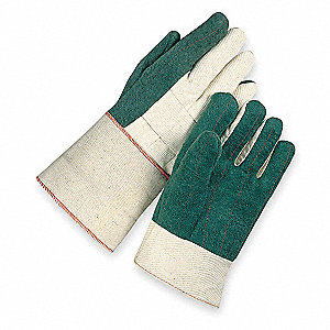 Heat Resistant Gloves, Cotton, 400°F Max. Temp., Men's L, PR 1