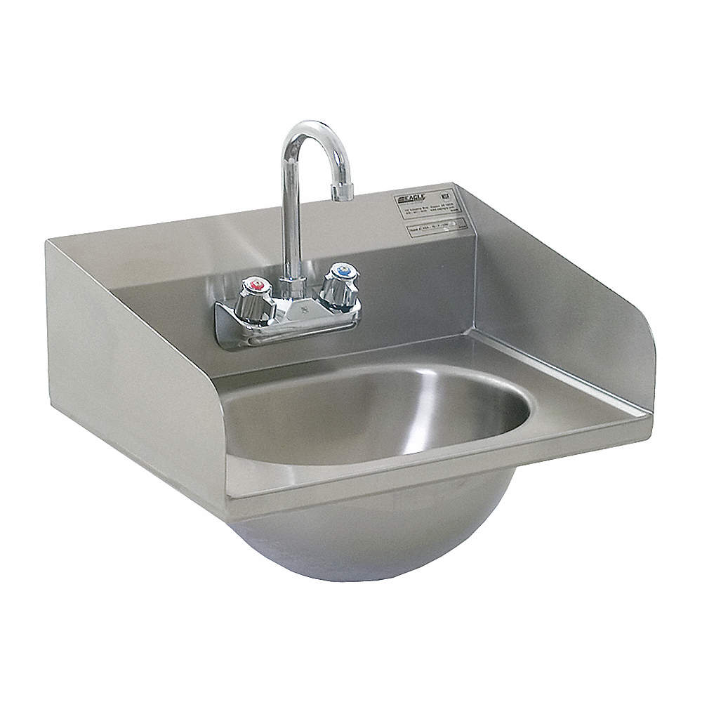 EAGLE GROUP Hand Sink,Wall,18-7/8 In. L,14-3/4 In. W - 4AVG6 HSA ...
