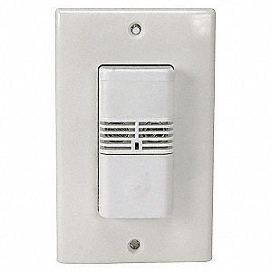 Occupancy Sensor, Sensor Type: Passive Infrared/Ultrasonic, Installation Type: Wall, 300/1000 sq. ft
