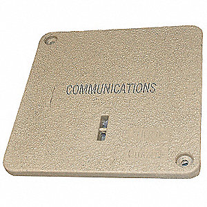 PC Underground Enclosure Cover, Communications, For Use With 14-3/4 x 14-3/4 Enclosure