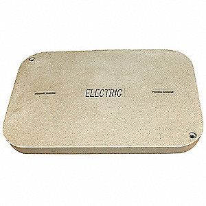 PG Underground Enclosure Cover, Electric, For Use With 26 x 37-5/8 Enclosure