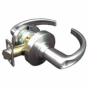 Satin Chrome Heavy Duty Keyed Different Entrance Lever, Sparta Style
