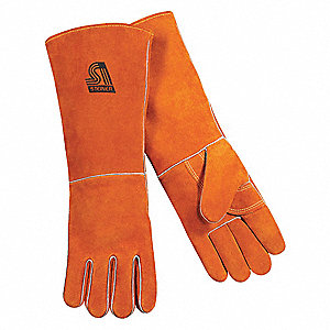 Welding Gloves,Stick,L,18 In. L,Wing,PR