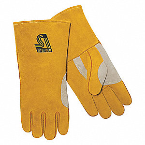 Welding Gloves,Stick,Ergonomic Offset,PR