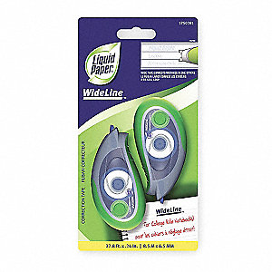 CORRECTION TAPE,WIDELINE,PK2