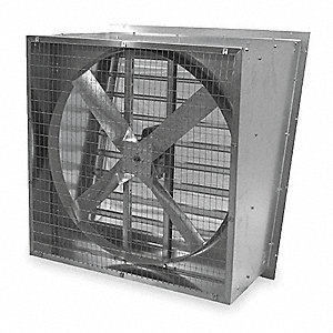 115/230V Slant-Wall, Direct-Drive Exhaust Fan, 1/2HP