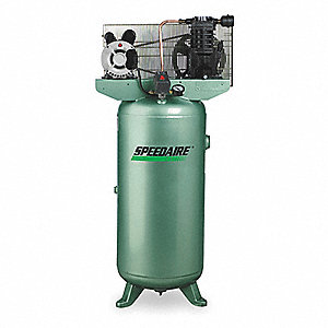 1 Phase Vertical Tank Mounted 2HP Electric Air Compressor, 30 gal., 135 psi