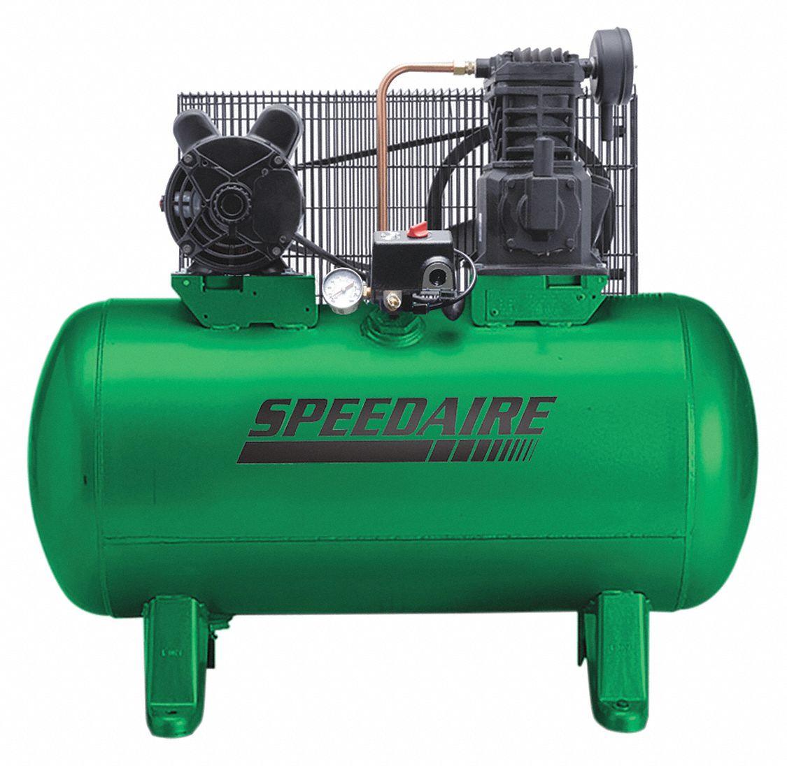 SPEEDAIRE 1 Phase - Electrical Horizontal Tank Mounted 2.0 hpHP - Air  Compressor Stationary Air Compressor, 30 - 4B234|4B234 - GraingerGrainger