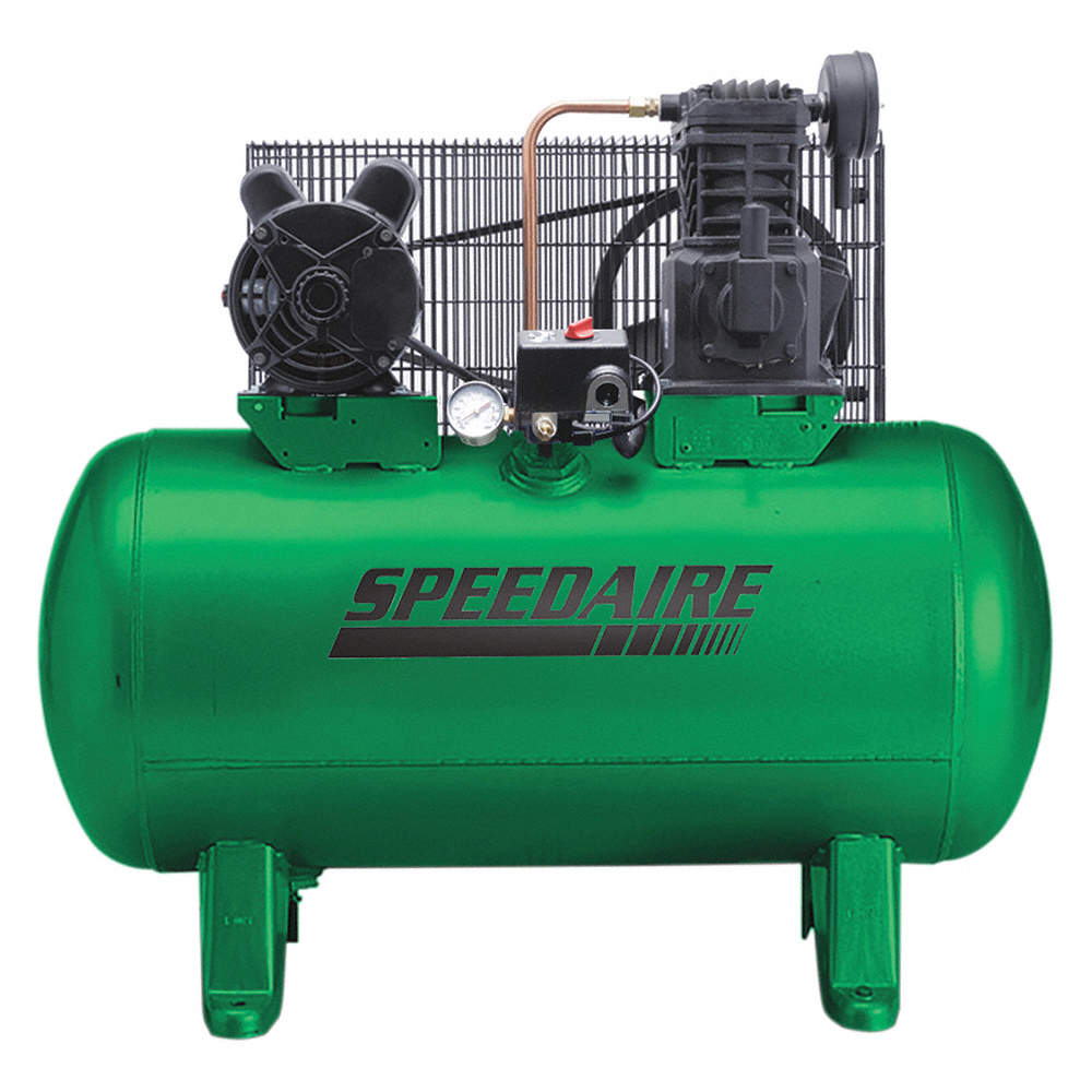 3 Phase - Electrical Horizontal Tank Mounted 3.00HP - Air Compressor on