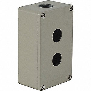 Pushbutton Enclosure,2.03 in.,Metal